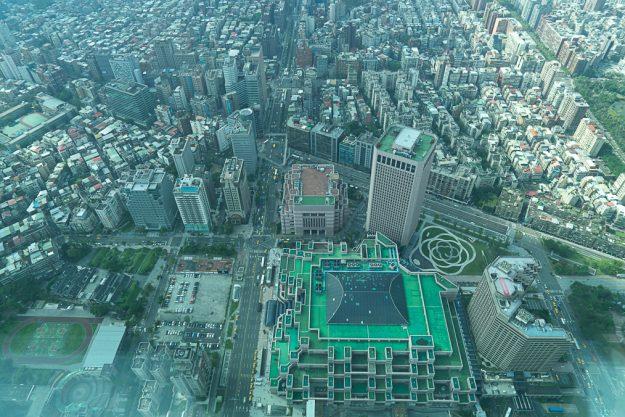 台北の街を望む(台北101より)