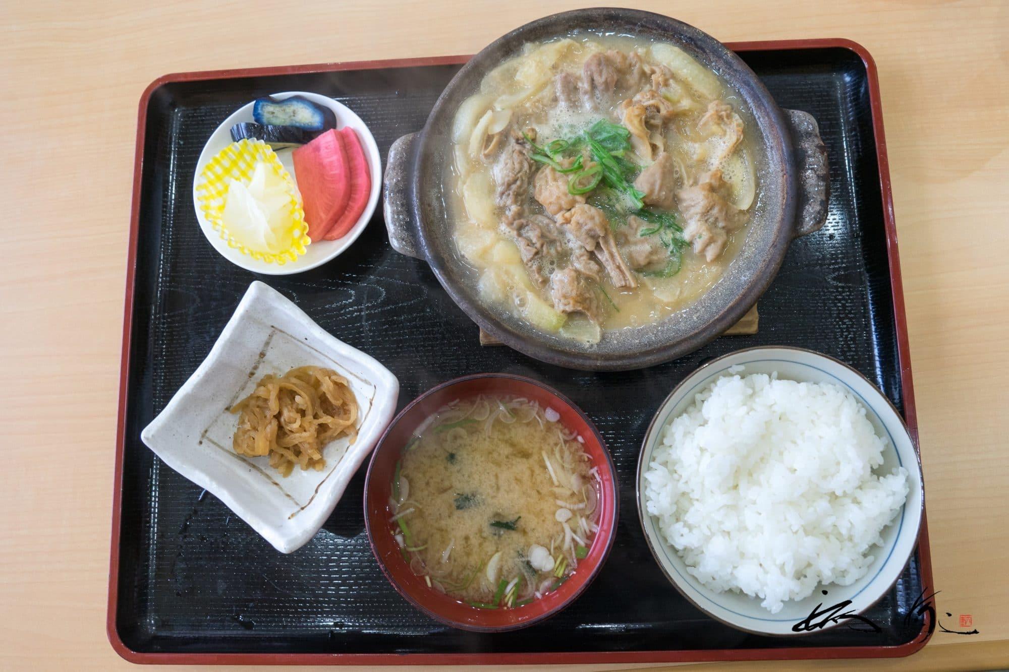 食べ処チロル@道の駅うたしないチロルの湯(歌志内市)で「なんこ定食」を頂く