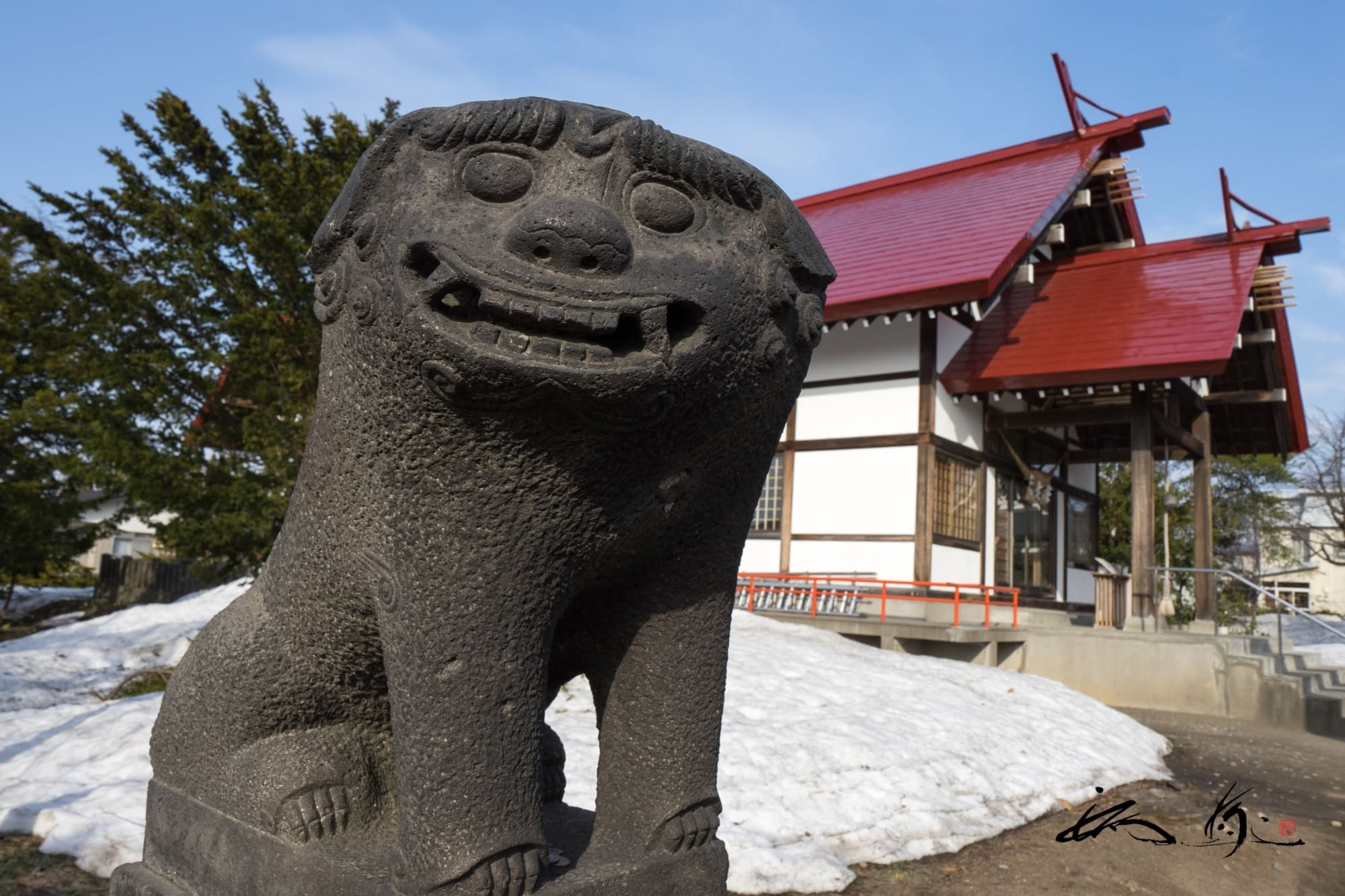 江部乙神社(滝川市)の「笑う狛犬」は福を呼ぶパワースポット【No.06】北海道御朱印巡り
