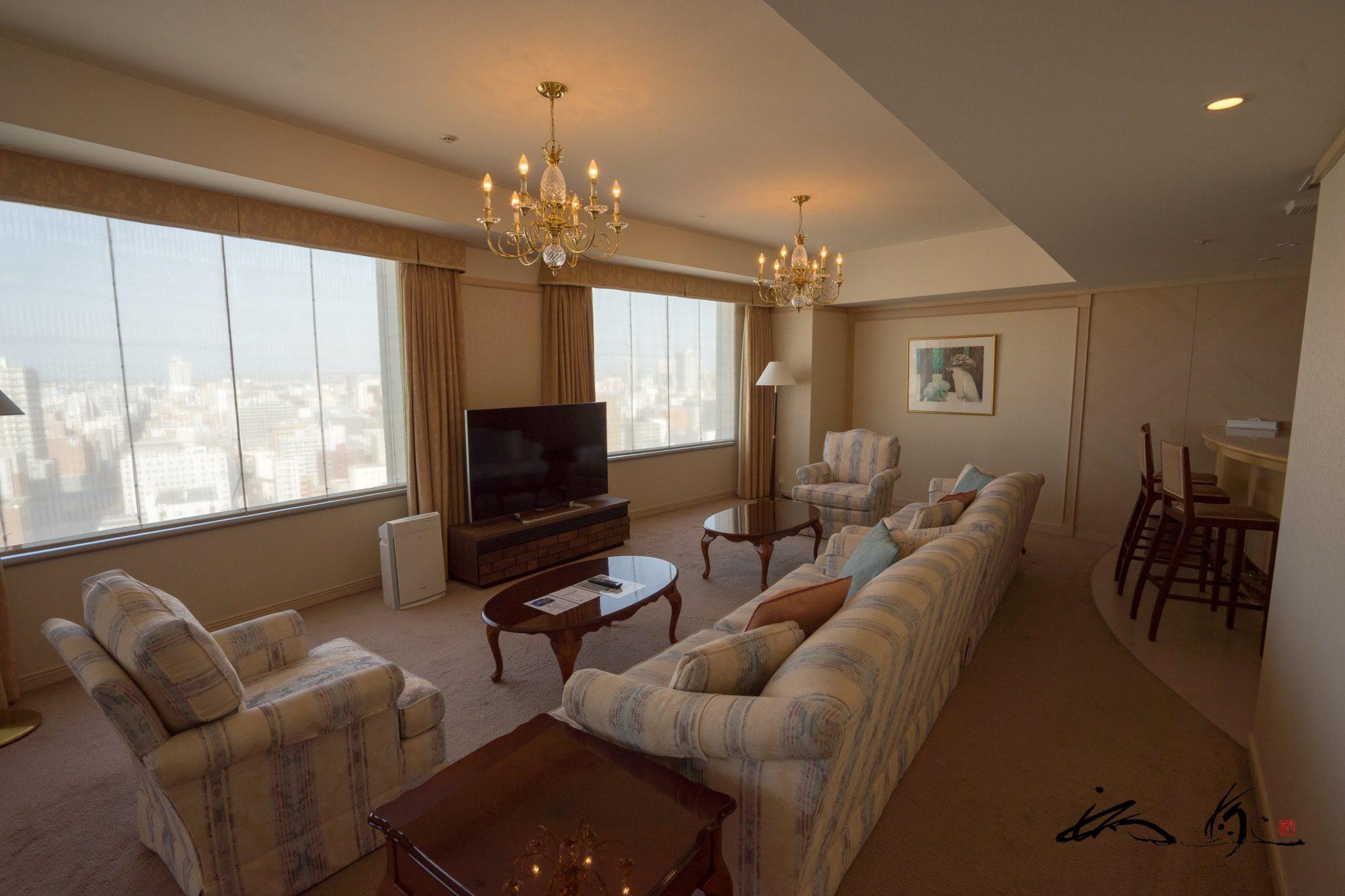 札幌プリンスホテル・ロイヤルスイートルーム(札幌市)JAF特別プランでエグゼクティブ体験