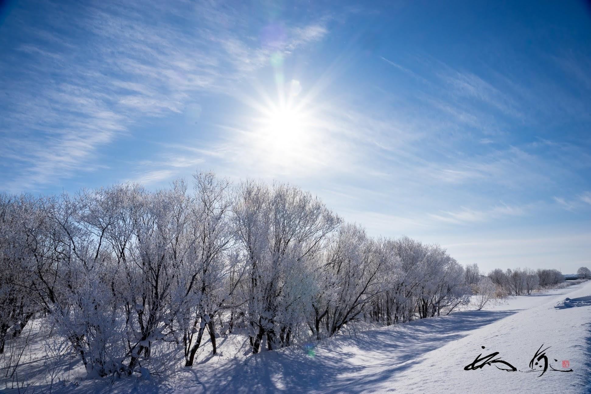 氷点下20℃の朝の風景